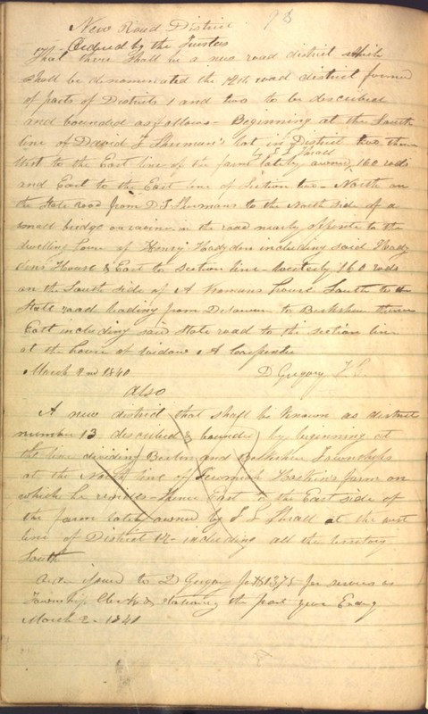 Record Book of Berkshire Township No. 2 1807-1843 (p. 106)