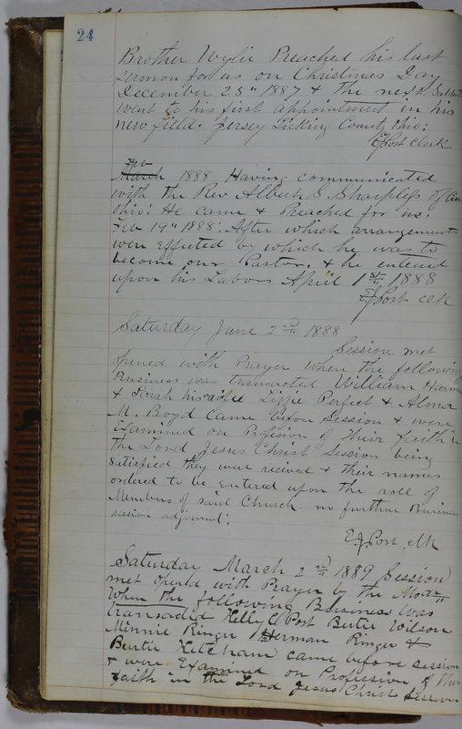 Sessional Records of the 1st Presbyterian Church of Trenton Delaware County Ohio 1873-1937 (p. 28)