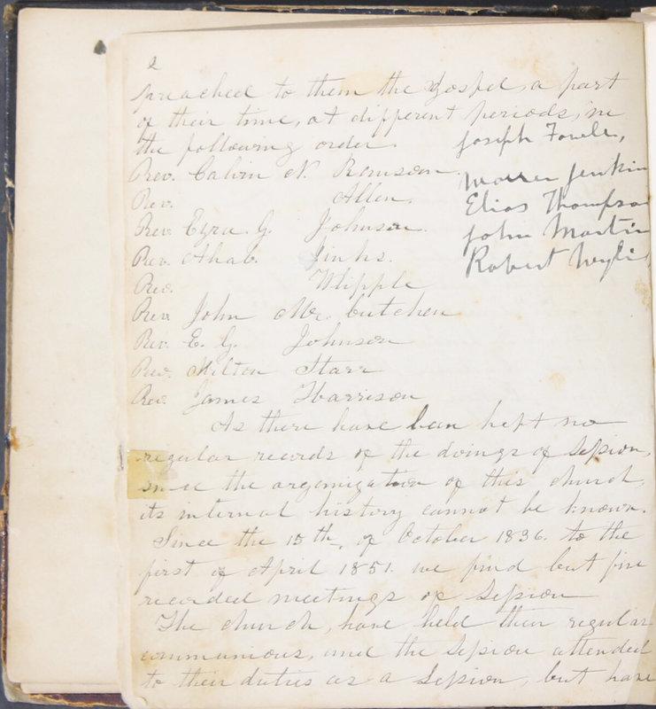 Sessional Records of the 1st Presbyterian Church of Trenton, Delaware Co., Ohio, 1831 (p. 8)