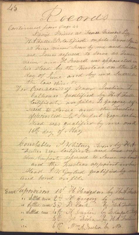 Record Book of Berkshire Township No. 2 1807-1843 (p. 58)