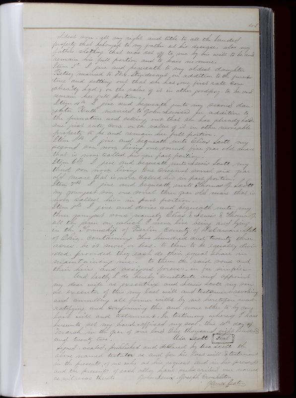 Delaware County Ohio Will Records Vol. 1 1812-1835 (p. 75)