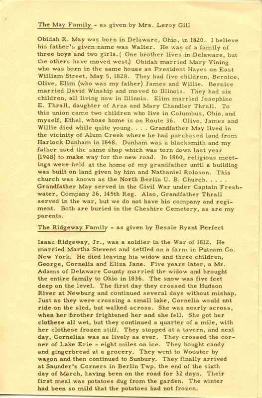 Berlin Township Program of the Delaware County Historical Society (p. 6)