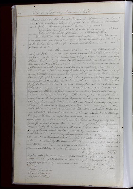 Delaware County Ohio Will Records Vol. 1 1812-1835 (p. 44)