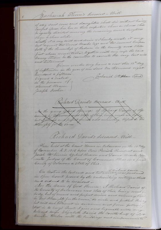 Delaware County Ohio Will Records Vol. 1 1812-1835 (p. 40)