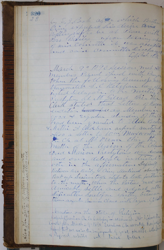 Sessional Records of the 1st Presbyterian Church of Trenton Delaware County Ohio 1873-1937 (p. 32)