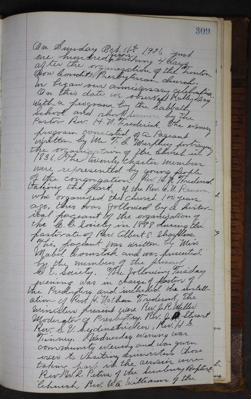 Sessional Records of the 1st Presbyterian Church of Trenton Delaware County Ohio 1873-1937 (p. 296)