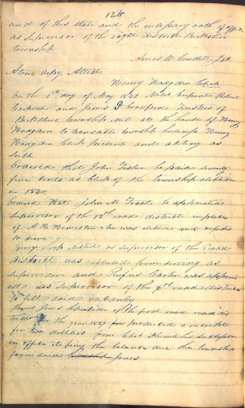 Record Book of Berkshire Township No. 2 1807-1843 (p. 138)