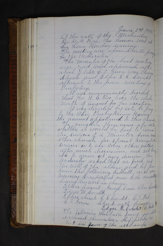 Sessional Records of the 1st Presbyterian Church of Trenton Delaware County Ohio 1873-1937 (p. 248)