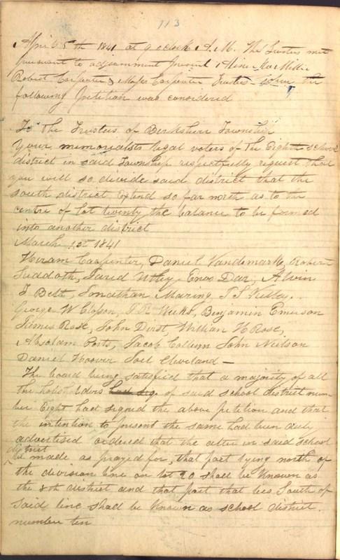 Record Book of Berkshire Township No. 2 1807-1843 (p. 126)