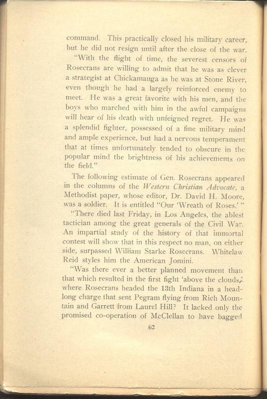 Major-General William Stark Rosecrans (p. 66)