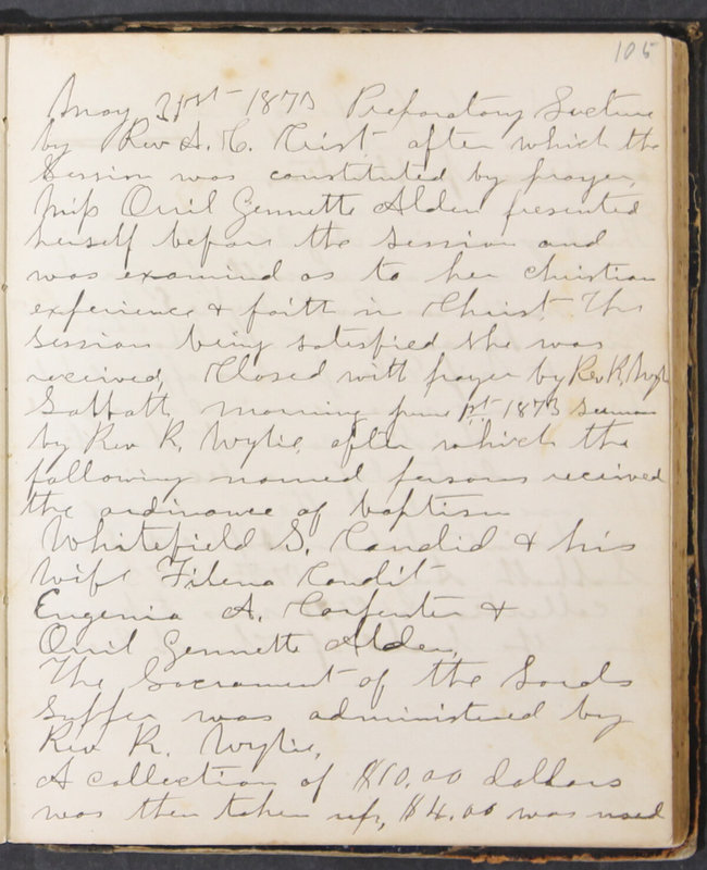 Sessional Records of the 1st Presbyterian Church of Trenton, Delaware Co., Ohio, 1831 (p. 111)