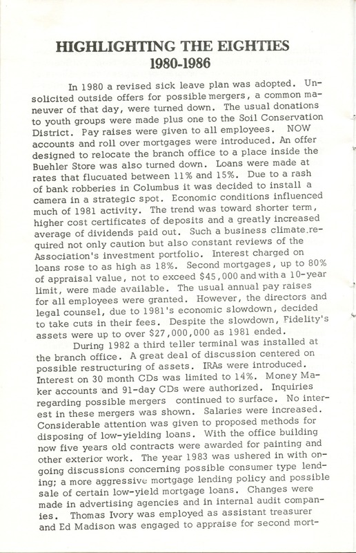 Fidelity Federal Savings and Loan Association 100 Years (p. 23)