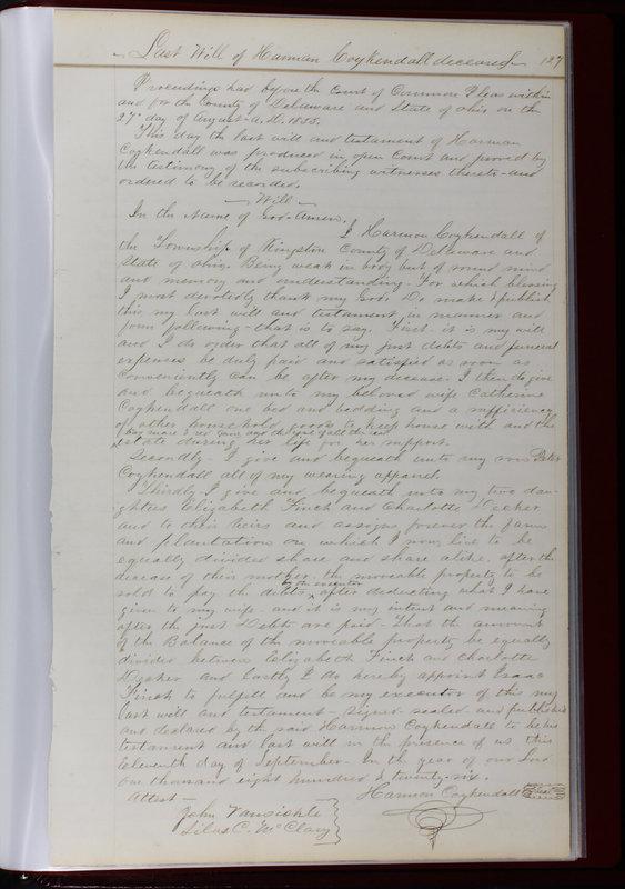 Delaware County Ohio Will Records Vol. 1 1812-1835 (p. 159)