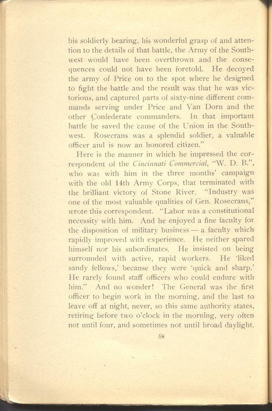 Major-General William Stark Rosecrans (p. 62)