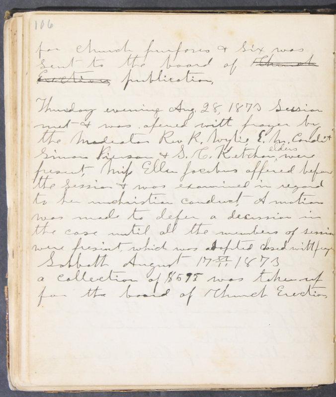Sessional Records of the 1st Presbyterian Church of Trenton, Delaware Co., Ohio, 1831 (p. 112)