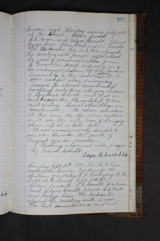 Sessional Records of the 1st Presbyterian Church of Trenton Delaware County Ohio 1873-1937 (p. 266)