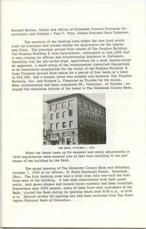 Delaware County Bank 1950-1975 (p. 4)