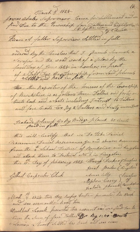 Record Book of Berkshire Township No. 2 1807-1843 (p. 29)