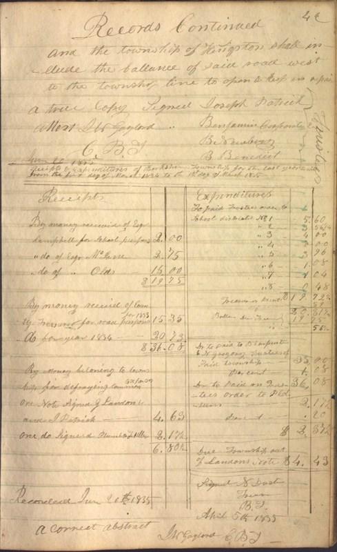 Record Book of Berkshire Township No. 2 1807-1843 (p. 55)