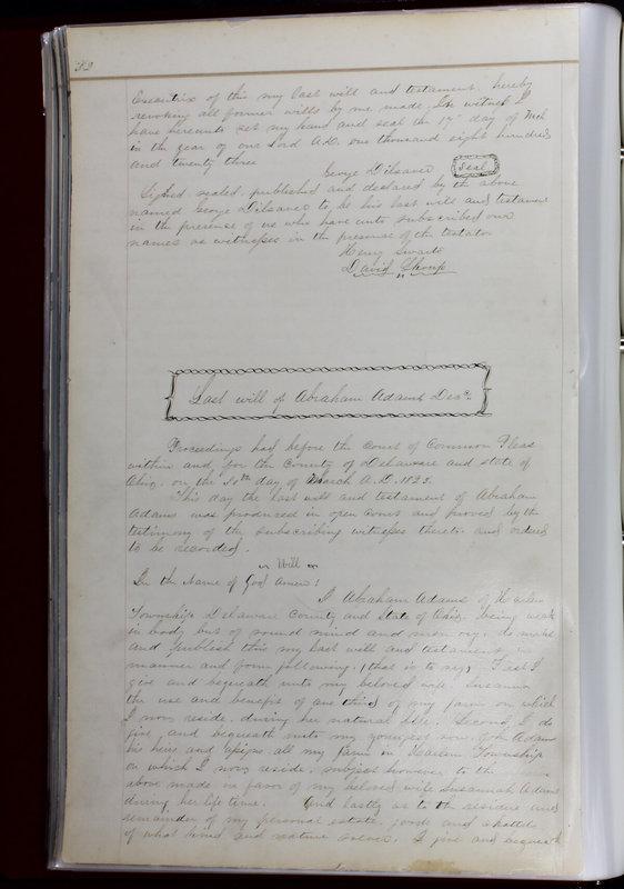 Delaware County Ohio Will Records Vol. 1 1812-1835 (p. 64)