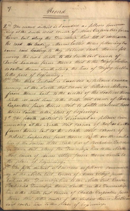 Record Book of Berkshire Township No. 2 1807-1843 (p. 20)