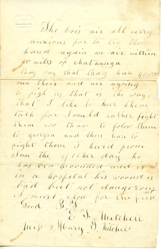 Mitchell Family Civil War Letters (p. 48)