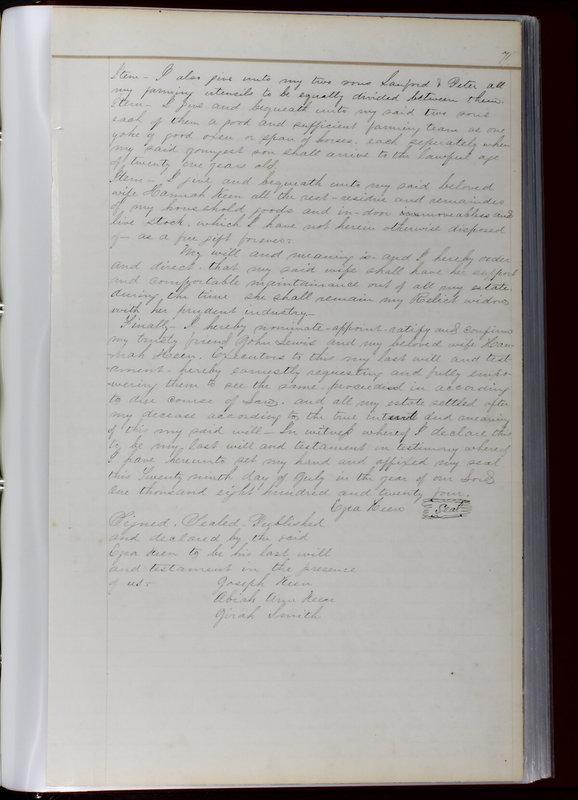 Delaware County Ohio Will Records Vol. 1 1812-1835 (p. 103)