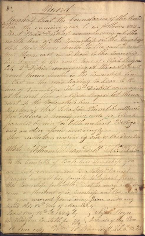 Record Book of Berkshire Township No. 2 1807-1843 (p. 14)