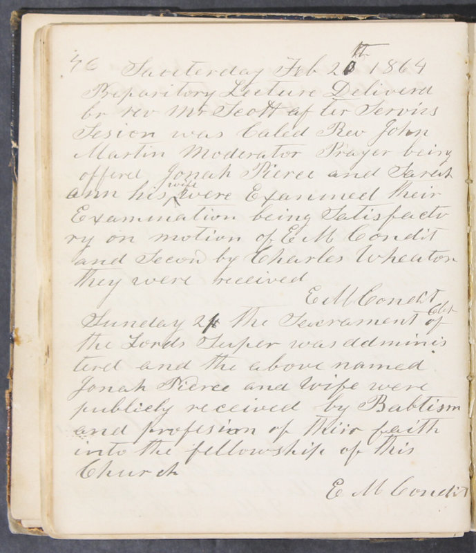 Sessional Records of the 1st Presbyterian Church of Trenton, Delaware Co., Ohio, 1831 (p. 52)