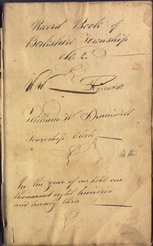 Record Book of Berkshire Township No. 2 1807-1843 (p. 3)