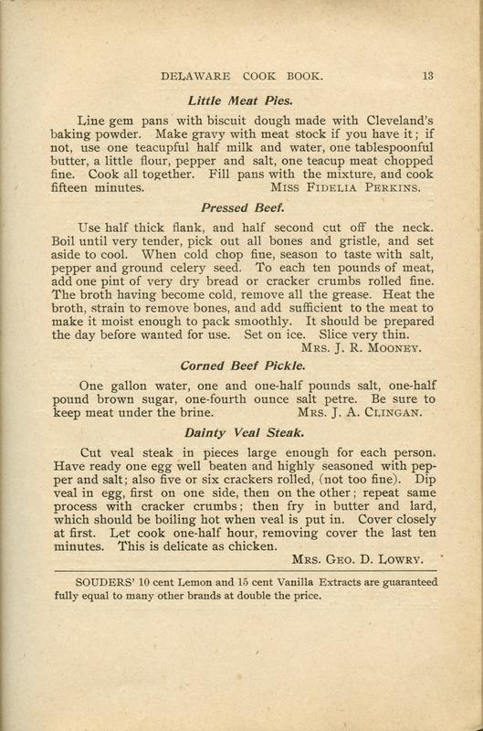 Delaware Cook Book (p. 18)