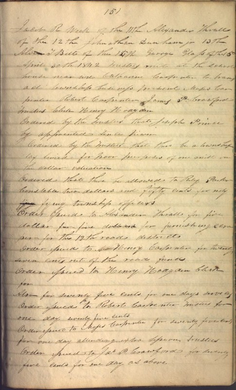 Record Book of Berkshire Township No. 2 1807-1843 (p. 165)