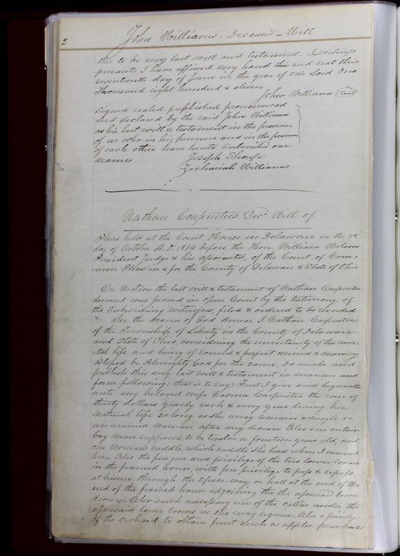 Delaware County Ohio Will Records Vol. 1 1812-1835 (p. 34)