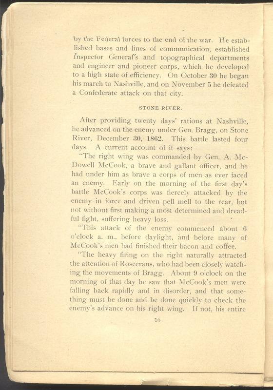 Major-General William Stark Rosecrans (p. 20)