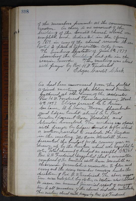 Sessional Records of the 1st Presbyterian Church of Trenton Delaware County Ohio 1873-1937 (p. 305)