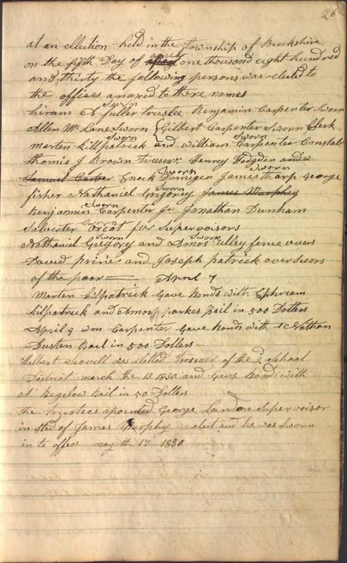 Record Book of Berkshire Township No. 2 1807-1843 (p. 39)