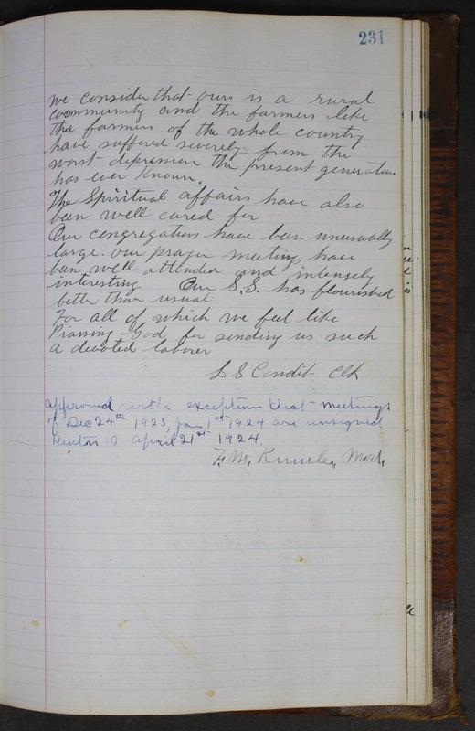 Sessional Records of the 1st Presbyterian Church of Trenton Delaware County Ohio 1873-1937 (p. 219)