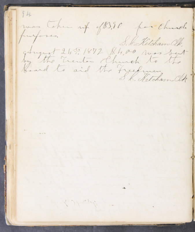 Sessional Records of the 1st Presbyterian Church of Trenton, Delaware Co., Ohio, 1831 (p. 100)