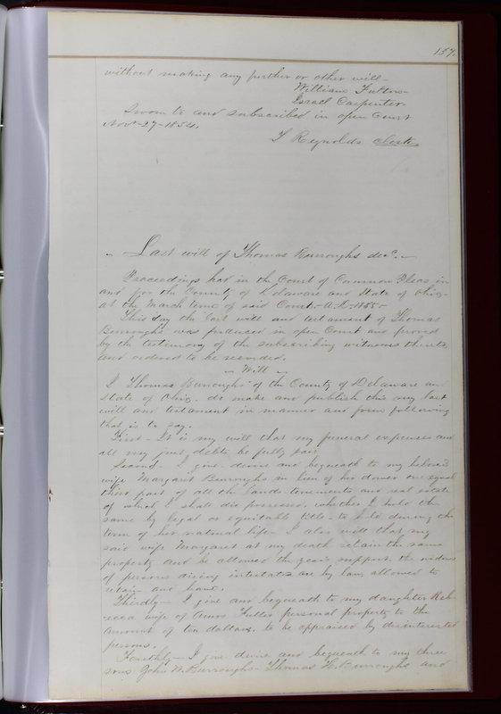 Delaware County Ohio Will Records Vol. 1 1812-1835 (p. 169)