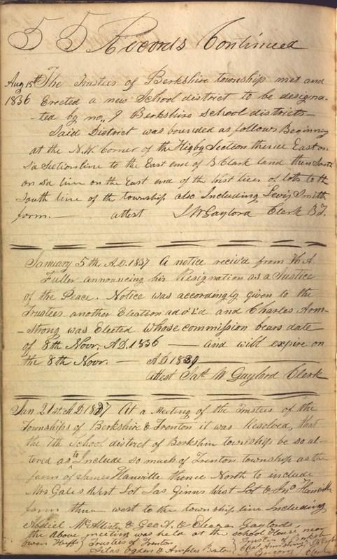 Record Book of Berkshire Township No. 2 1807-1843 (p. 68)