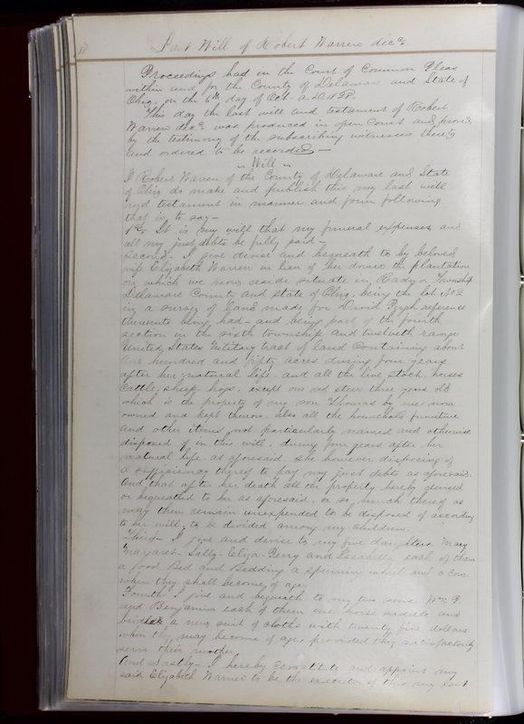Delaware County Ohio Will Records Vol. 1 1812-1835 (p. 120)