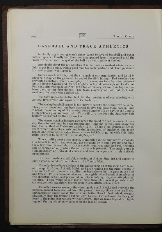 The Owl, Vol. II, 1922 (p.42)