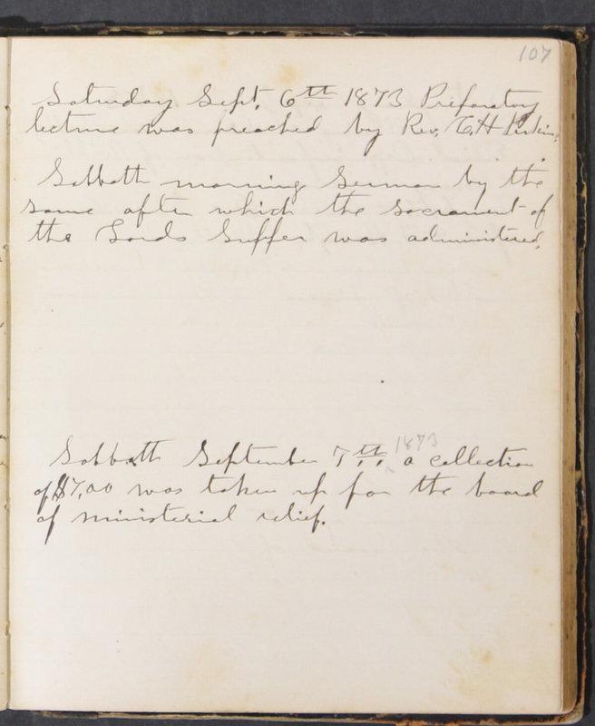 Sessional Records of the 1st Presbyterian Church of Trenton, Delaware Co., Ohio, 1831 (p. 113)