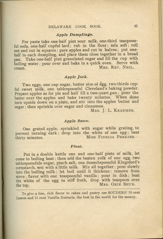 Delaware Cook Book (p. 50)