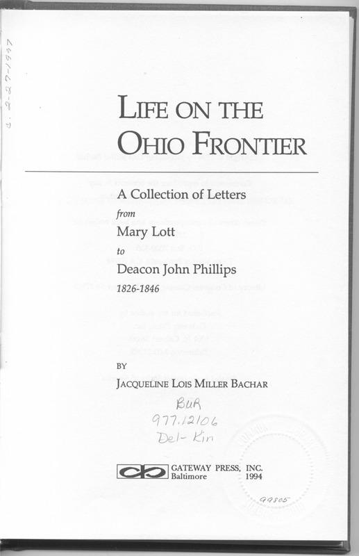Life on the Ohio Frontier (p. 7)