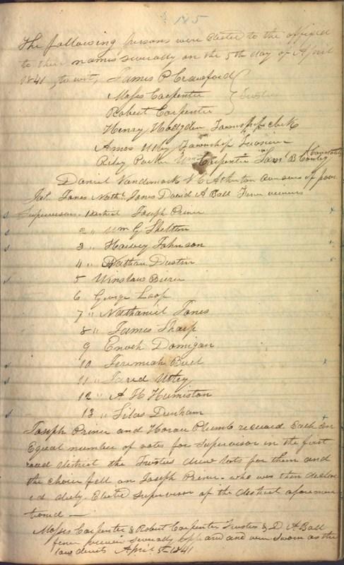 Record Book of Berkshire Township No. 2 1807-1843 (p. 129)