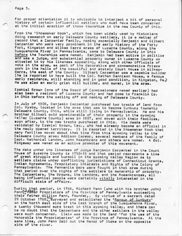 The Origin of the Name Sunbury (p. 3)