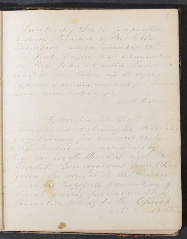 Sessional Records of the 1st Presbyterian Church of Trenton, Delaware Co., Ohio, 1831 (p. 47)