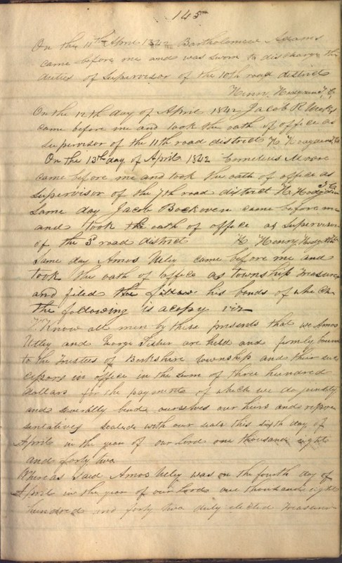Record Book of Berkshire Township No. 2 1807-1843 (p. 159)