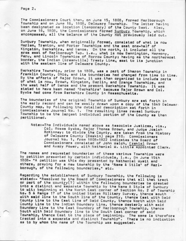 The Origin of the Name Sunbury (p. 2)